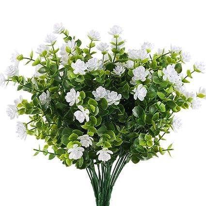 Mihounion Huaesin Ramas Eucalipto Plantas Verdes Artificiales Flores - Plantas-verdes-exterior