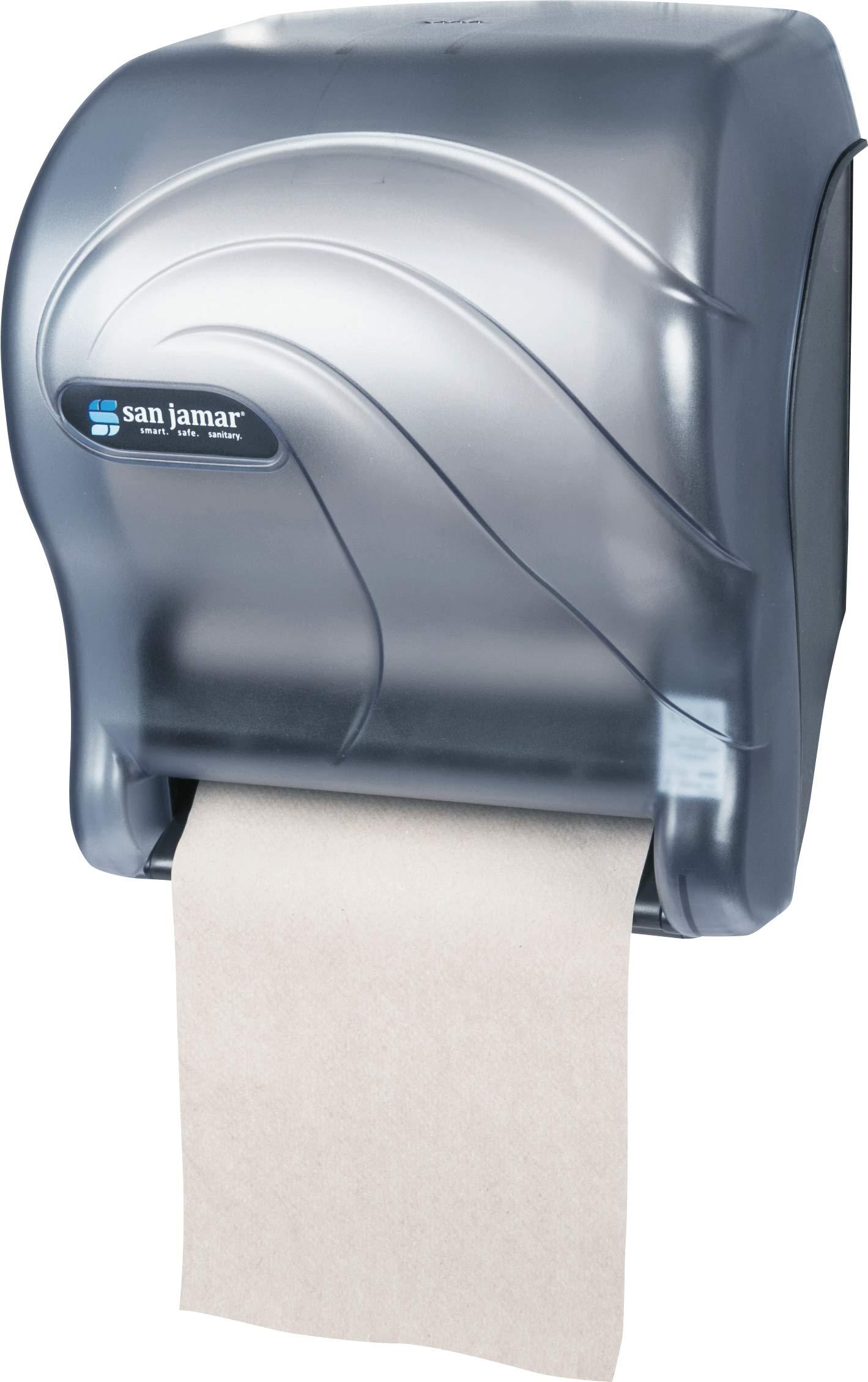 San Jamar T8090TBL Tear-N-Dry Essence Oceans Hands Free Paper Towel Dispenser, Arctic Blue