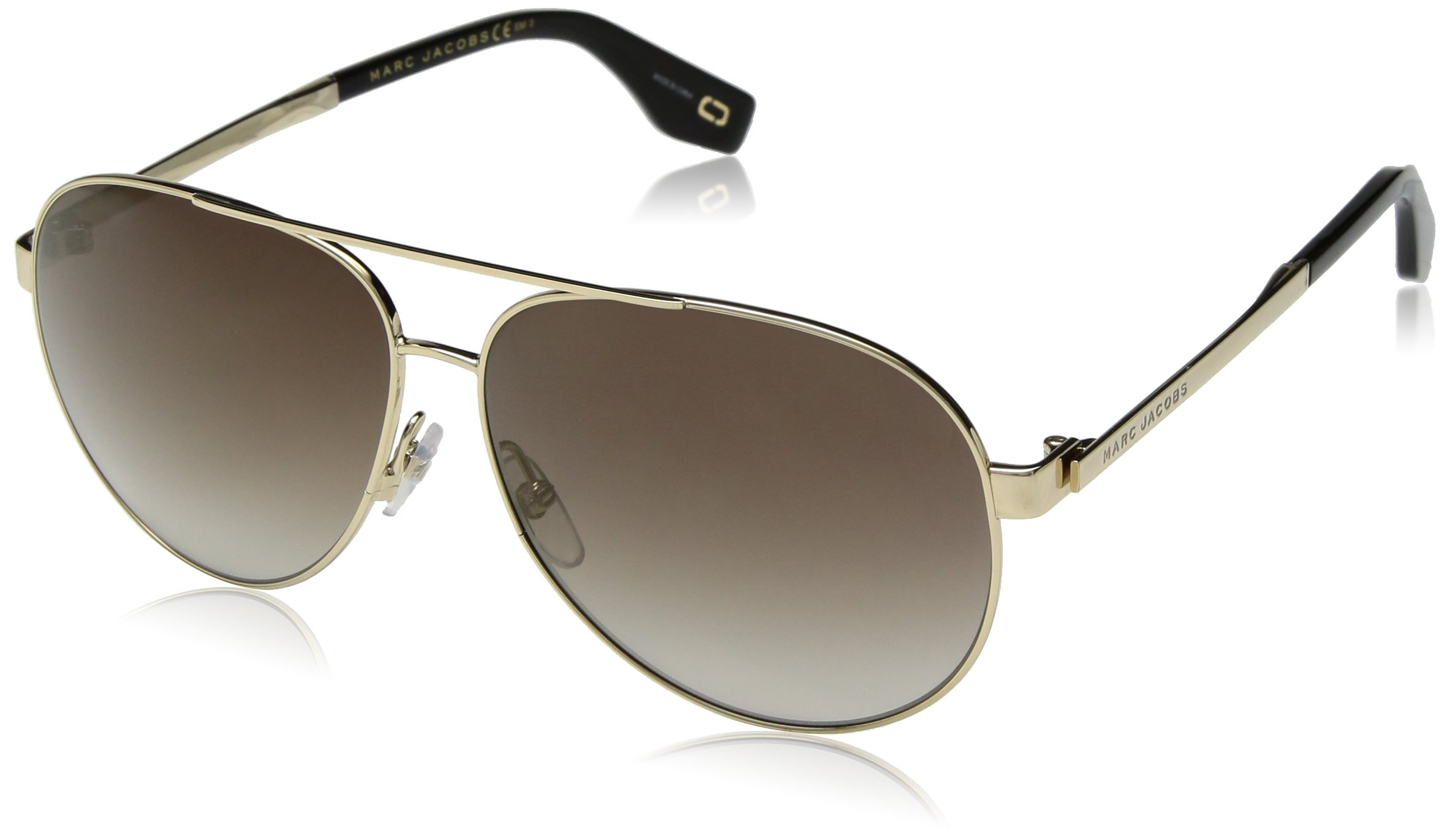 Marc Jacobs Women's Marc305s Aviator Sunglasses, Gold, 61 mm by Marc Jacobs