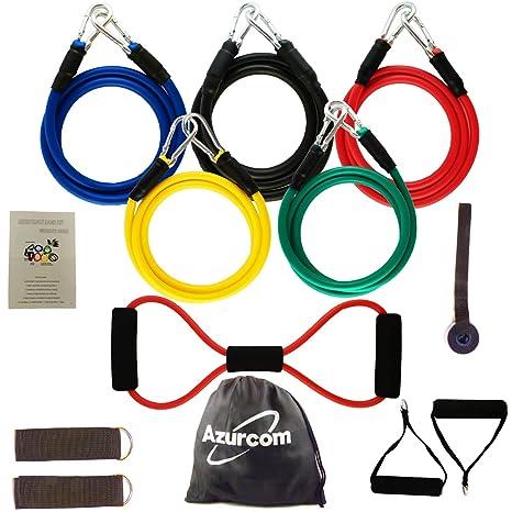 Kit bandas de resistencia 12 piezas, elástico de deporte musculación, banda elástica fitness, yoga, pilates, Crossfit – Bandas de resistencia ...