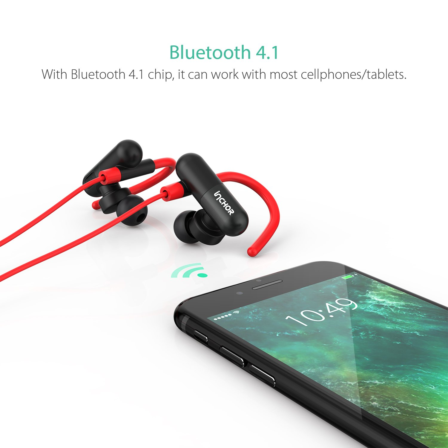 Amazon.com: Bluetooth Stereo Headphones Wireless Earbuds Audifonos Bluetooth with Mic Inchor Noise Cancelling, 7 Hours Playtime Wireless Sport headsets ...