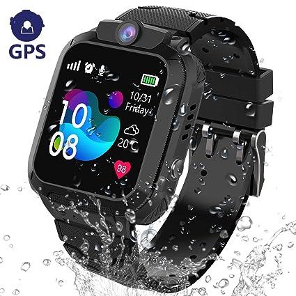 GPS Reloj Inteligente Niña Impermeable - Smartwatch Niños Localizador GPS Niños, Pulsera Inteligente Reloj Inteligente Niña Regalo, con Llamada ...