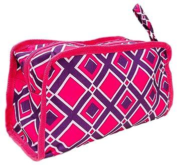 819f4f8eba39 Best Diamond Pink Purple Women Hanging Shaving Toiletry Travel Bag with  Zipper & Strap Hanger Purse...