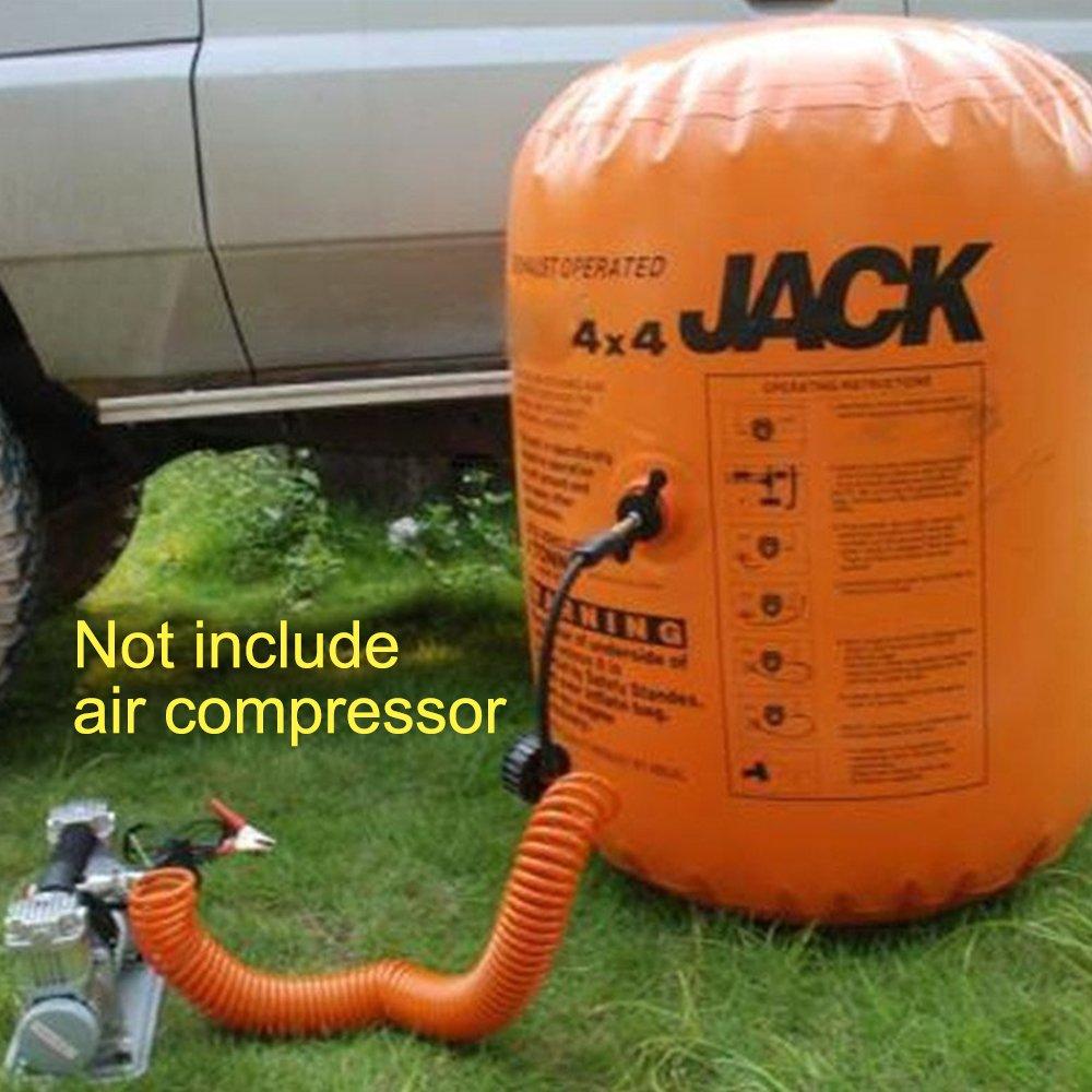 Vogvigo Coche hinchable Jack Inflable 4 toneladas Emisi/ón y Bomba de doble uso