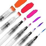 Water Coloring Brush Pens, Ohuhu Set of 6 Aqua