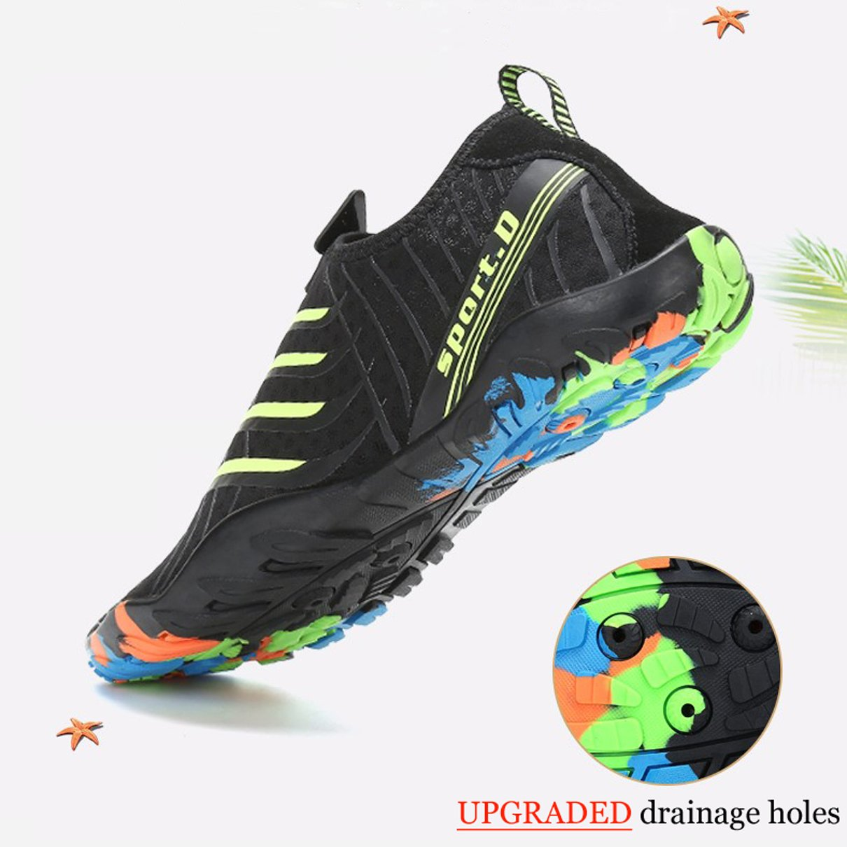 5bb1774b Maniamixx Zapatos de agua nadar para mujer Zapatos deportivos para mujeres  Zapatos de aguamarina de secado rápido Sandalias para la playa, nadar,  bucear ...