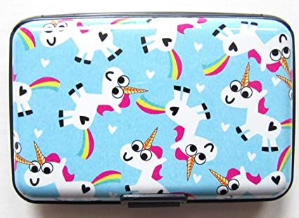 Cartoon Unicorn - Funda protectora para tarjeta de crédito y ...