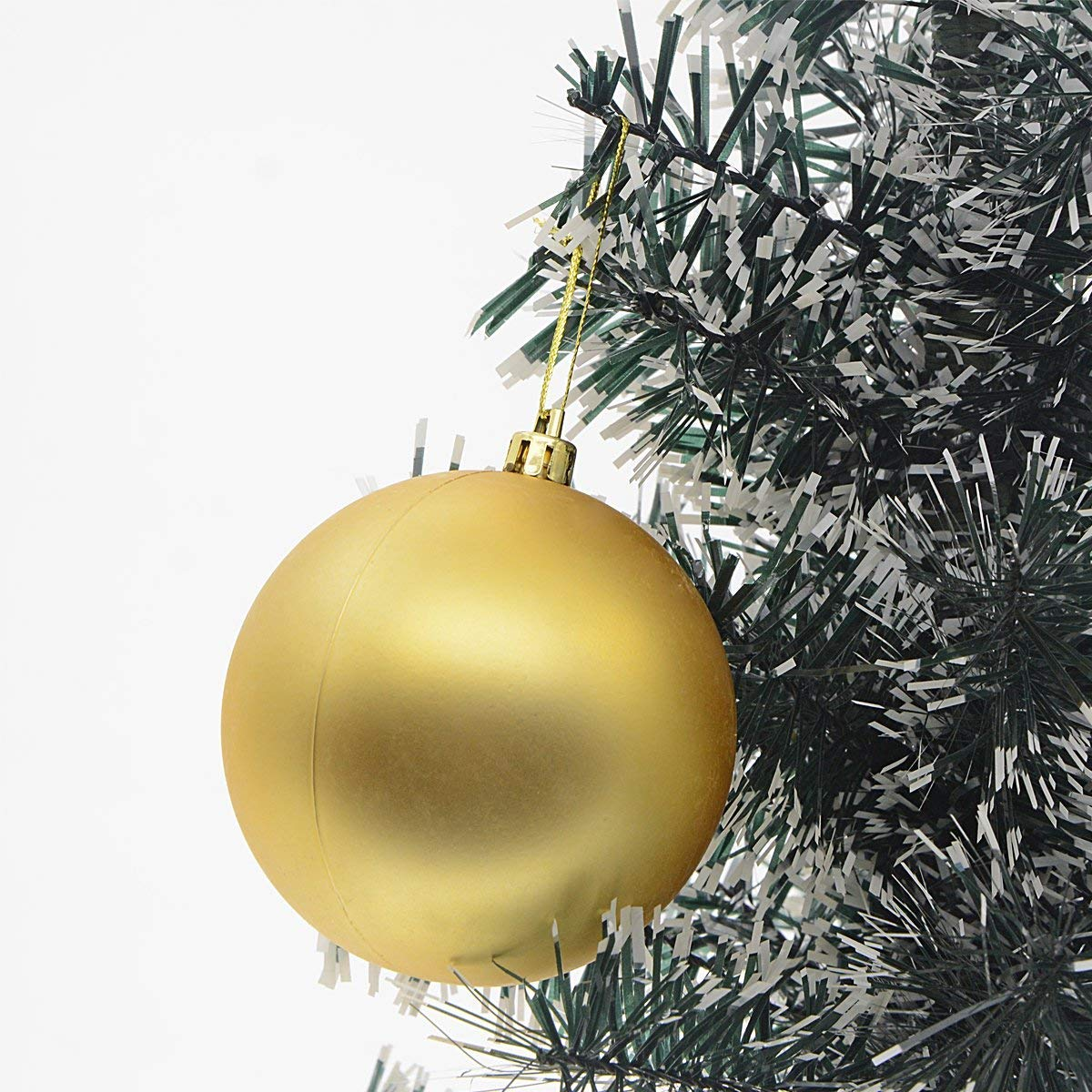 Green/&Gold/&Red Saim Shatterproof Christmas Decoration Balls Wedding Holiday Parties Xmas Trees Decorative Hanging Ornaments 3cm 36Pcs