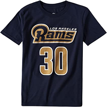 Todd Gurley Los Angeles Rams #30 Navy Youth Name /& Number Jersey T-Shirt