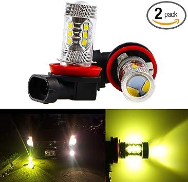 2x 9006 HB4 3000K Golden Yellow High Power COB LED Fog Lights Driving Bulb DRL
