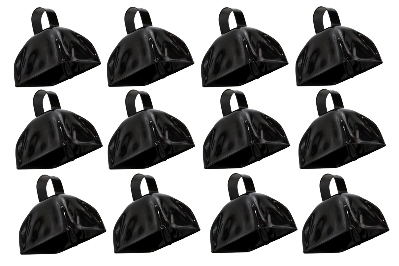 Rhode Island Novelty 3'' Metal Black Cowbells   12 Pack  