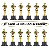Plastic Trophy – 12 Pack 6 Inch Figure Trophy, Competitions, Awards, Ceremonies, Contests, Parties, Party favors, Props, Rewards, Prizes, Games, School, Field Day, Boys And Girls - Kidsco
