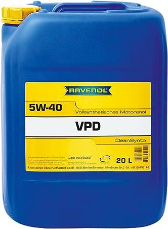 Ravenol Vpd Sae 5w 40 5w40 Vollsynthetisches Motoröl Pumpen Düse Mid Saps 20 Liter Auto