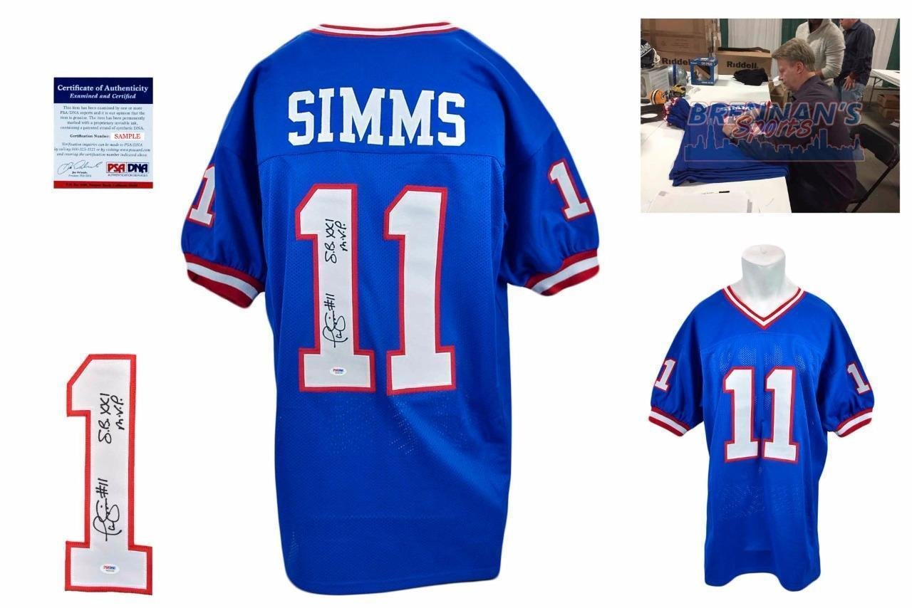 the latest e315a 495f0 Phil Simms Autographed Jersey - SB MVP - PSA/DNA Certified ...