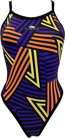Turbo - Bañador Mujer PICO Tira Estrecha doble capa (Revolution): Amazon.es: Ropa y accesorios