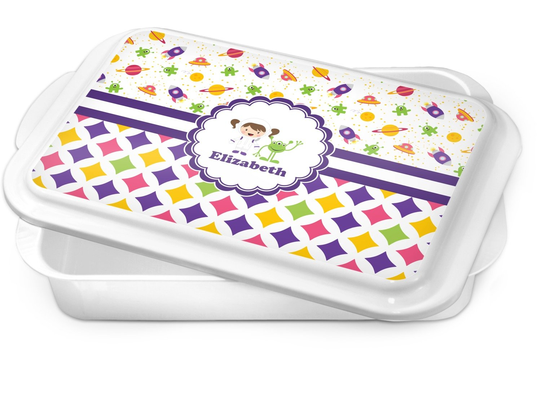 Girl's Space & Geometric Print Cake Pan (Personalized)