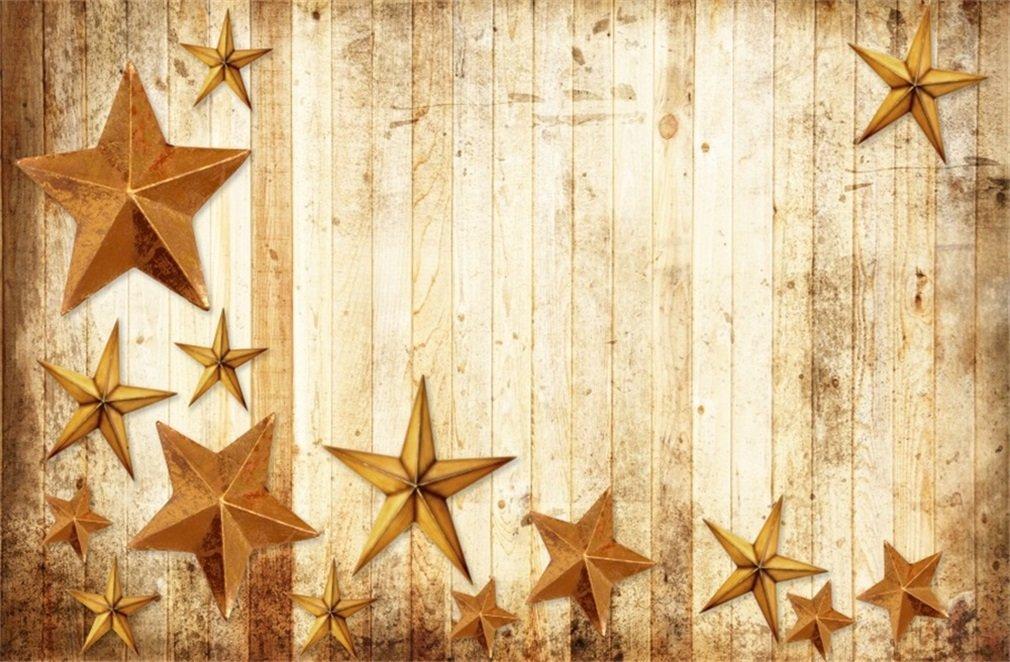 YongFoto 3x2m Foto Hintergrund Weinlese Weihnachtsstern: Amazon.de ...