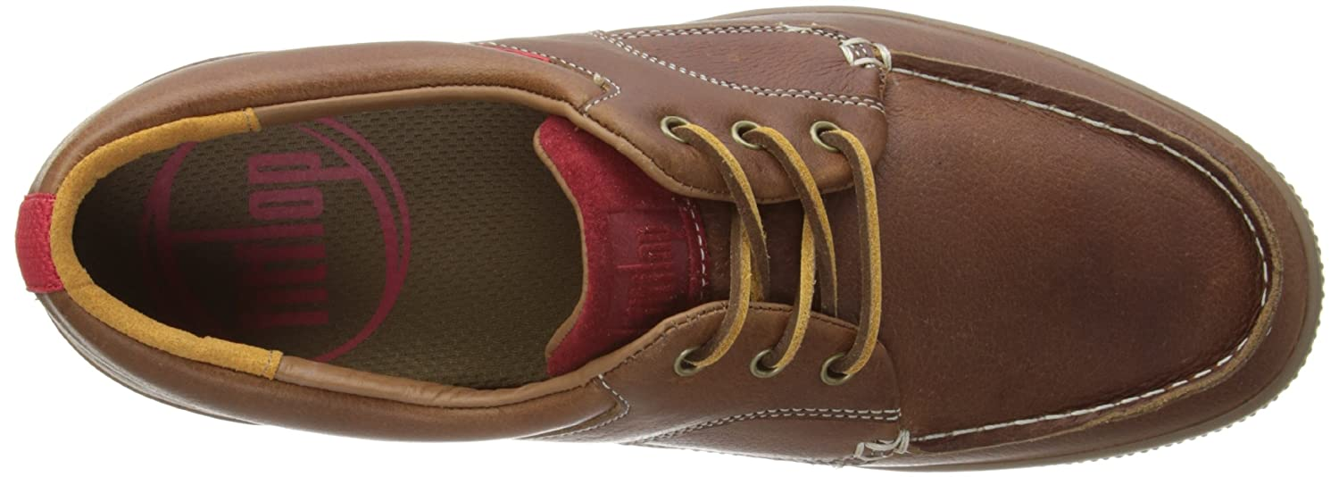 afc5555a367606 Fitflop Mens Monty Boatmoc Leather Boat Shoes 357-017 Tan 12 UK