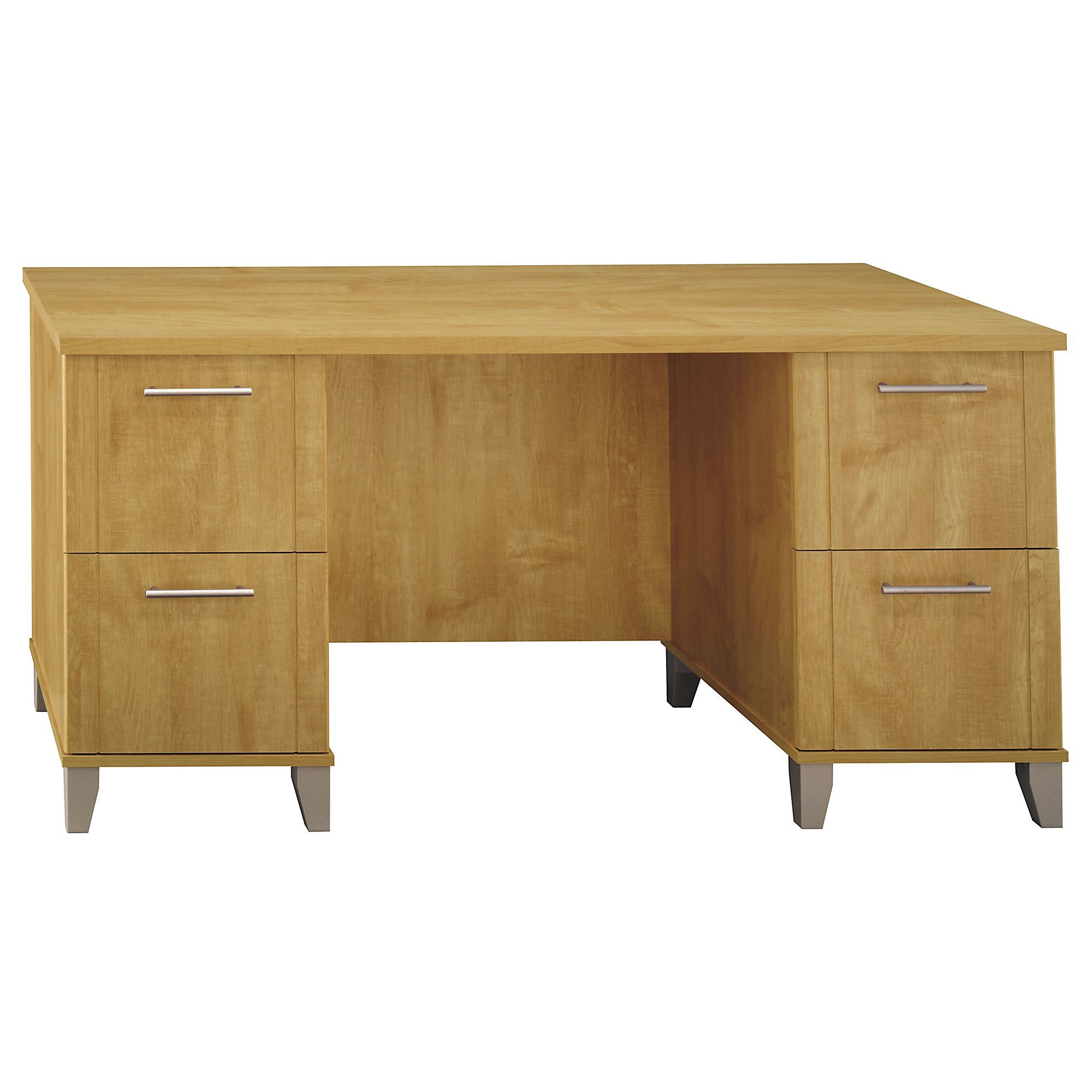 Bush Furniture Somerset 60W Office Desk in Maple Cross