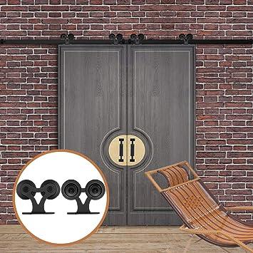 Lwzh Style Industriel 2 4 M Double Porte De Grange
