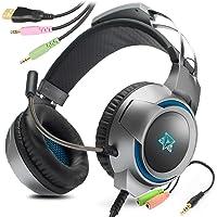 Headset Gamer Pc Celular Ps4 Ps5 Adamantiun Kira Led P2 Fone de ouvido Gamer