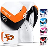 Starpro Boxing Gloves Training Sparring - Muay Thai Kickboxing Fighting Punching Heavy Duty Punch Bag Mitts Fitness Exercise Bag Glove| 8oz 10oz 12oz 14oz 16oz | Synthetic Leather for Men and Women