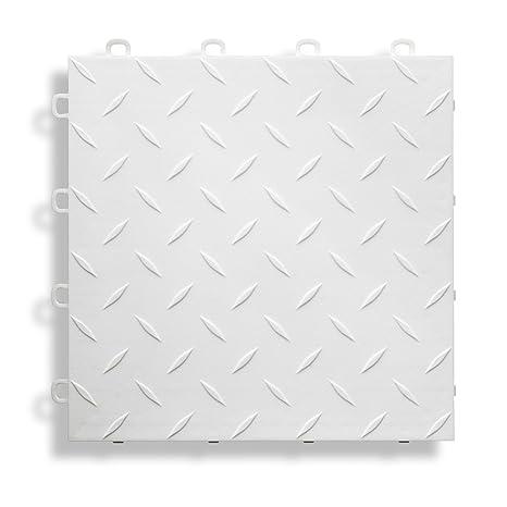 27-Pack Gray BlockTile B1US4627 Garage Flooring Interlocking Tiles Diamond Top Pack