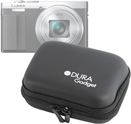 with Carabiner Clip Compatible with Panasonic Lumix DMC-ZS50 DURAGADGET Premium Quality Hard Shell EVA Case in Black