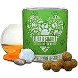 TIERLIEBHABER Anti-Wurm-Snack (350g) | Darmpflege und Darmaufbau für den Hund durch Kräutermischung und Schwarzkümmel-Öl | Für Welpen geeignet