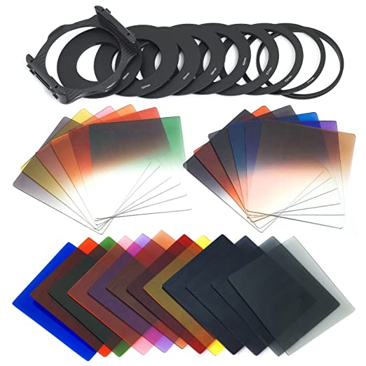545 opinioni per Xcsource 24PCS Square Full + filtro graduato set + 9 dimensioni anello