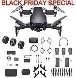 DJI Mavic Air Fly More Combo, Onyx Black (2018 Version), 3-Filter Set, Landing Gear and More (Black)