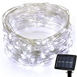 Amazon Price History for:Hallomall LED Solar Powered String Lights, 2 Modes Steady on / Flash, 150 LED, 72 Feet, White