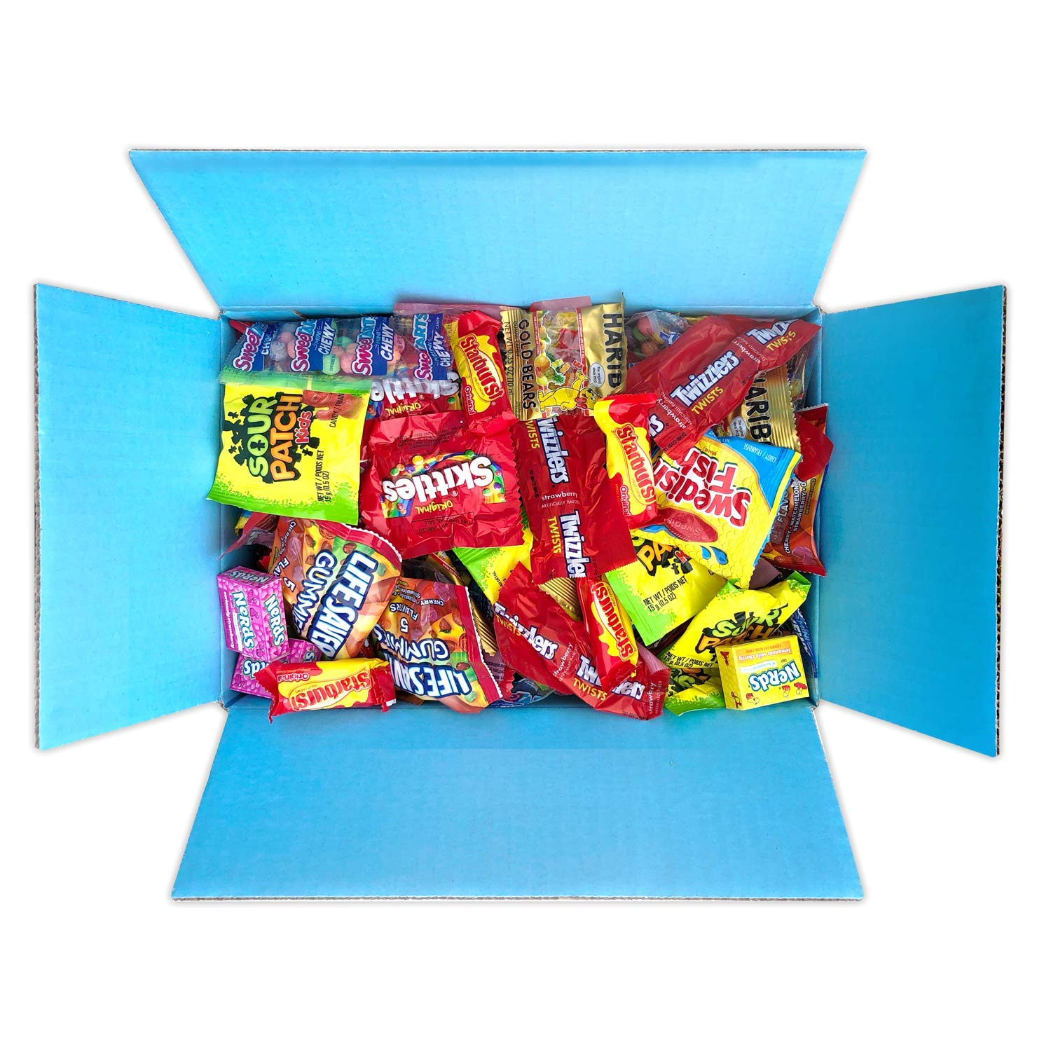 Candy Party Mix Bulk Bag of Skittles Swedish Fish Nerds Haribo Gummy Sour Patch Twizzlers Starburst Mike and Ike Variety Fun Peppermints n' more! by Variety Fun Net wt (288 oz) by Custom Varietea (Image #3)