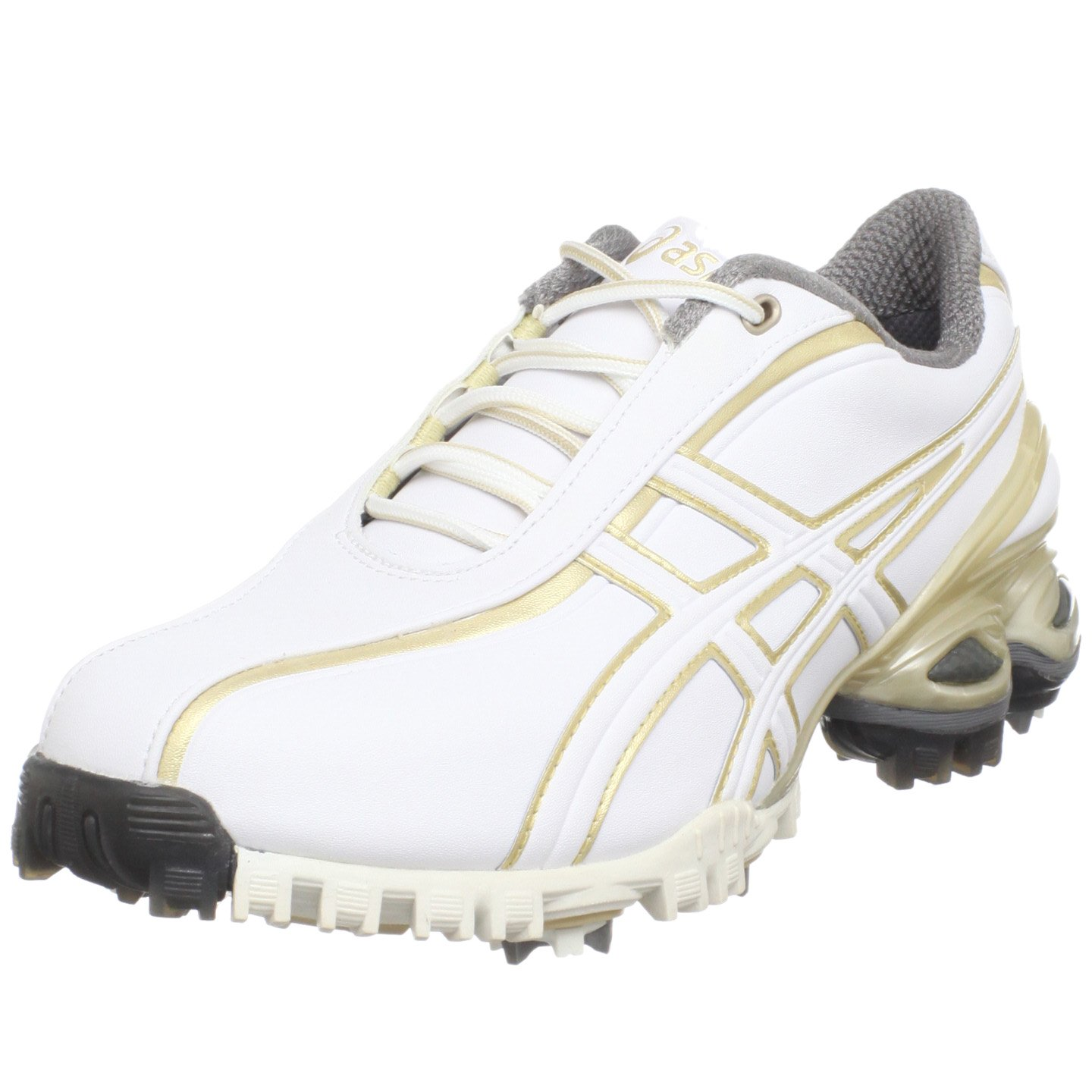 ASICS Women's Lady GEL-Ace Golf Shoe,White/Champagne Gold,6 M US