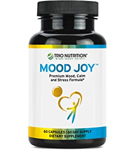 5-HTP Capsule with Blend of Fresh Traditional Herbs: St Johns Wort, Ashwagandha, Turmeric | Mood Joy for Mood Uplift, Calm, Sleep & Stress Support to Improve Mental & Emotional Wellbeing – Happiness*