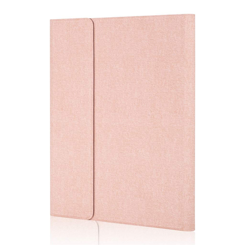Sonmer Slim Detachable Wireless Bluetooth Keyboard PU Leather Case Cover For iPad Pro 12.9 2017/2015 (Rose Gold)