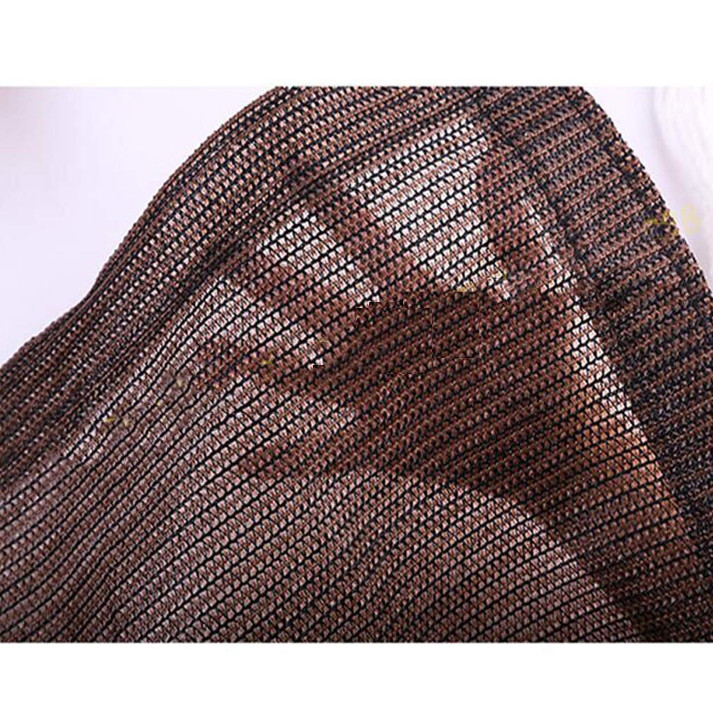 con Ojales Sombra Malla Rectangular Redes de Sombra Para Balcones Lona de Sombra Cubierta de sombreado de verano,Brown/_4x5m//12x15ft CUUYQ Bloqueador Solar Tela de Sombra