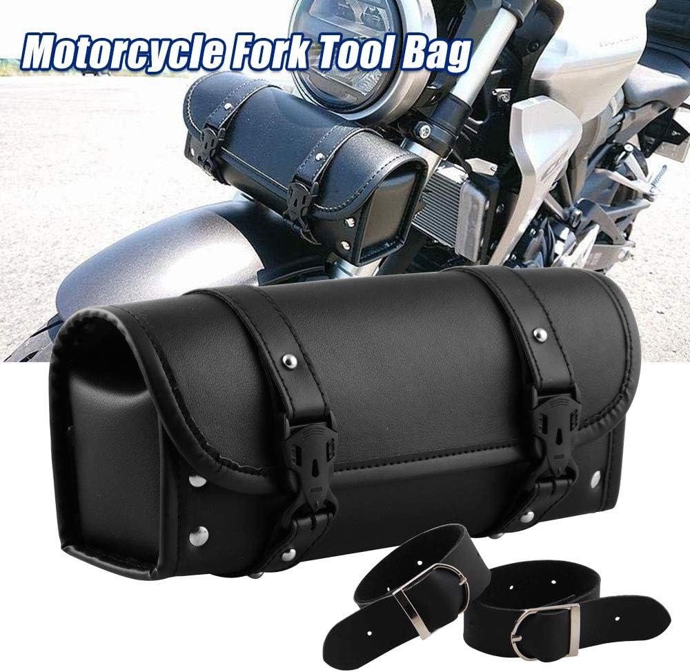 RASNONE Motorcycle Fork Bag Handlebar Bag Tool Bag Saddlebags for Yamaha Honda Sportster Softail Dyna Kawasaki Suzuki Ducati KTM MB-OT012-BK