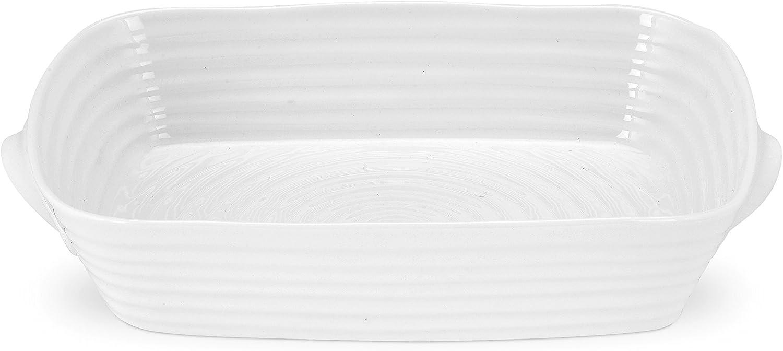 Portmeirion Sophie Conran White Small Handled Rectangular Roasting Dish