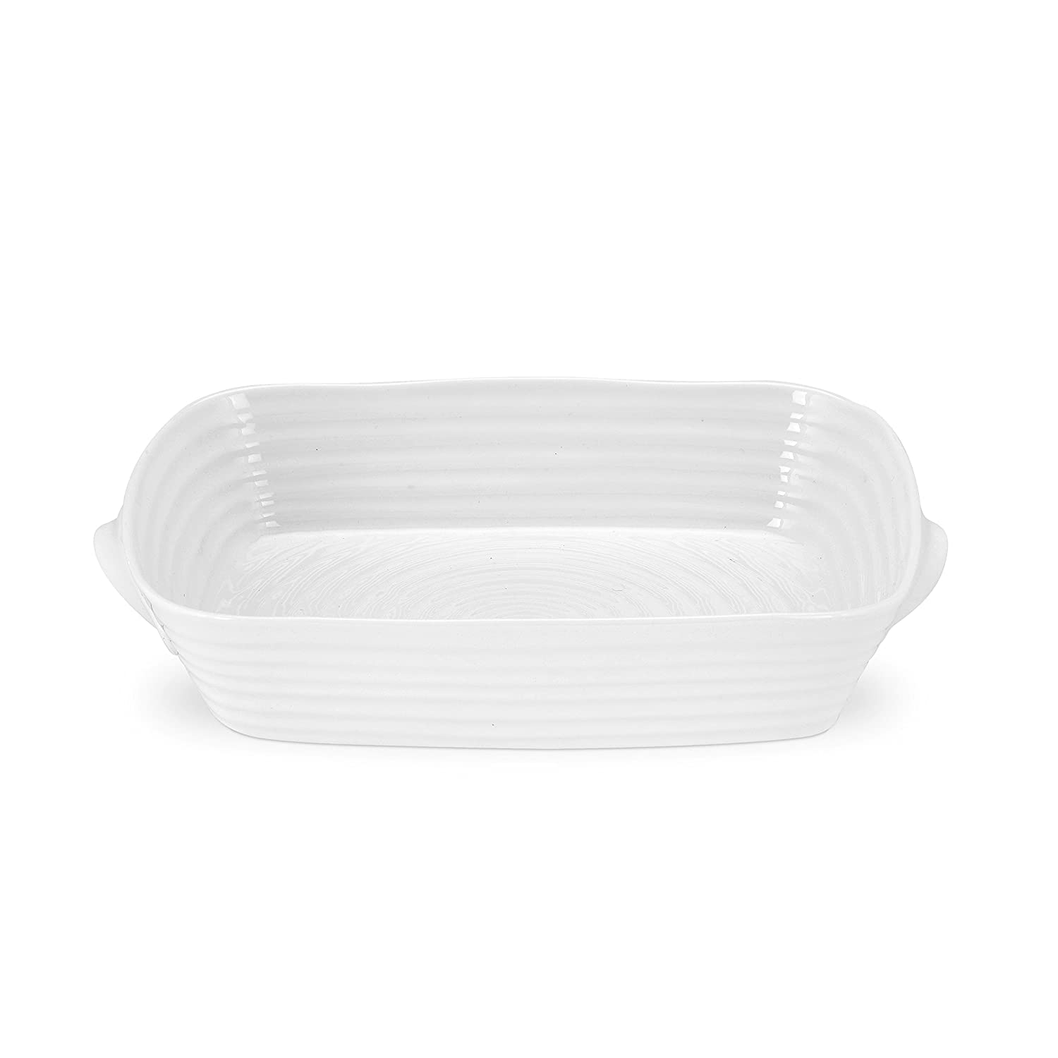 Portmeirion Sophie Conran White Small Handled Rectangular Roasting Dish Portmeirion USA 543799