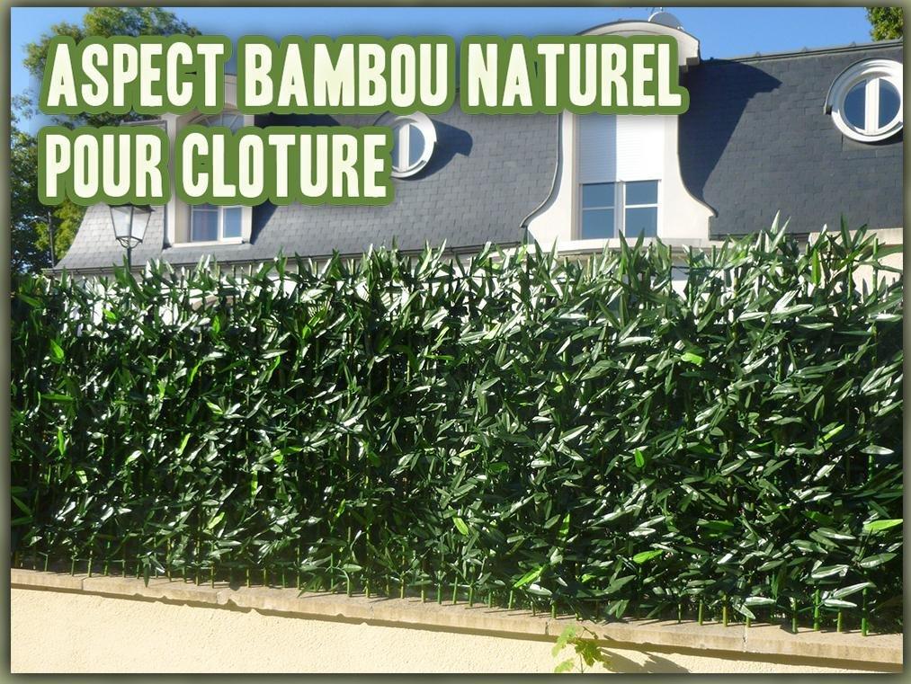 excellent haie de bambou sur support rigide bambou naturel. Black Bedroom Furniture Sets. Home Design Ideas