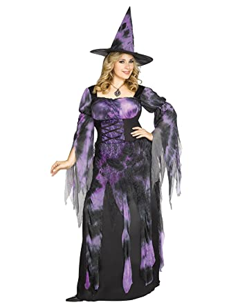fun world womens plus size starlight witch costume multi x large