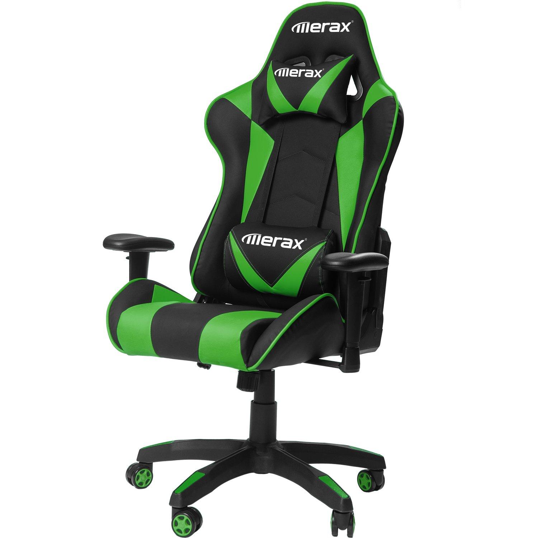 Merax Gaming Chair High Back Computer Chair Ergonomic Design Racing Chair (Green) by Merax