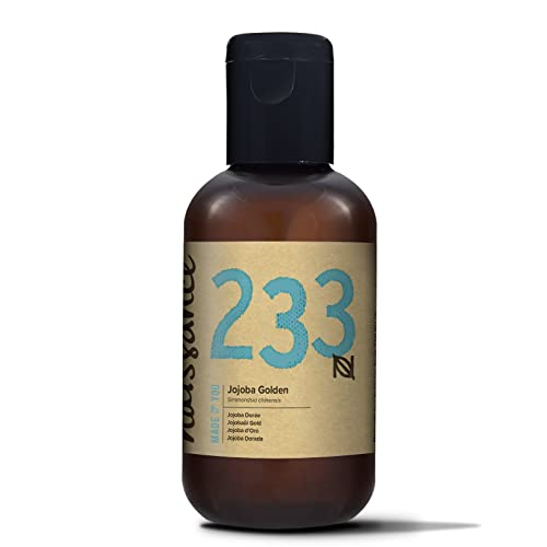 Naissance Cold Pressed Golden Jojoba Oil (no. 233) 100ml - Pure & Natural, Unrefined, Vegan, Hexane Free, No GMO - Ideal for Aromatherapy and as a Massage Base Oil - Moisturises & Conditions Hair & Skin