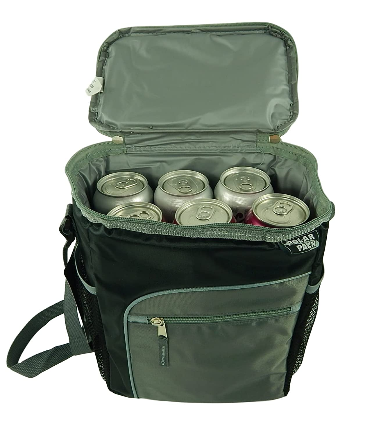 0e5796ebe453 4SGM Polar Pack 12 Can Cooler Insulated Collapsible with Pockets and  Shoulder Strap 1 Gallon (Black)