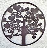 Home Decoration Accessories - Love Tree of Life Metal Wall Hanging Garden Art 24 Inches