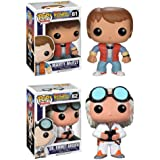 Funko POP Vinyl Figure Back to the Future - Marty Mcfly & Doc Emmet Brown by FunKo