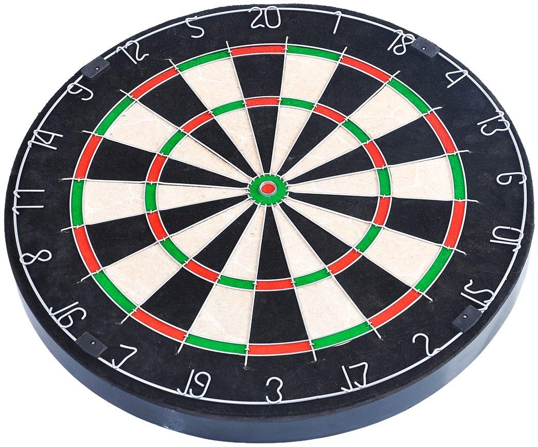 FA Sports Dartscheibe Spick Real-M - Juego de dardos (acero), color negro, talla 45.5x45.5x3.8 cm 902