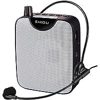 Draagbare Stemversterker, SHIDU M500 draagbare Mini-Spraakversterker met bekabelde microfoon Headset Oplaadbare…