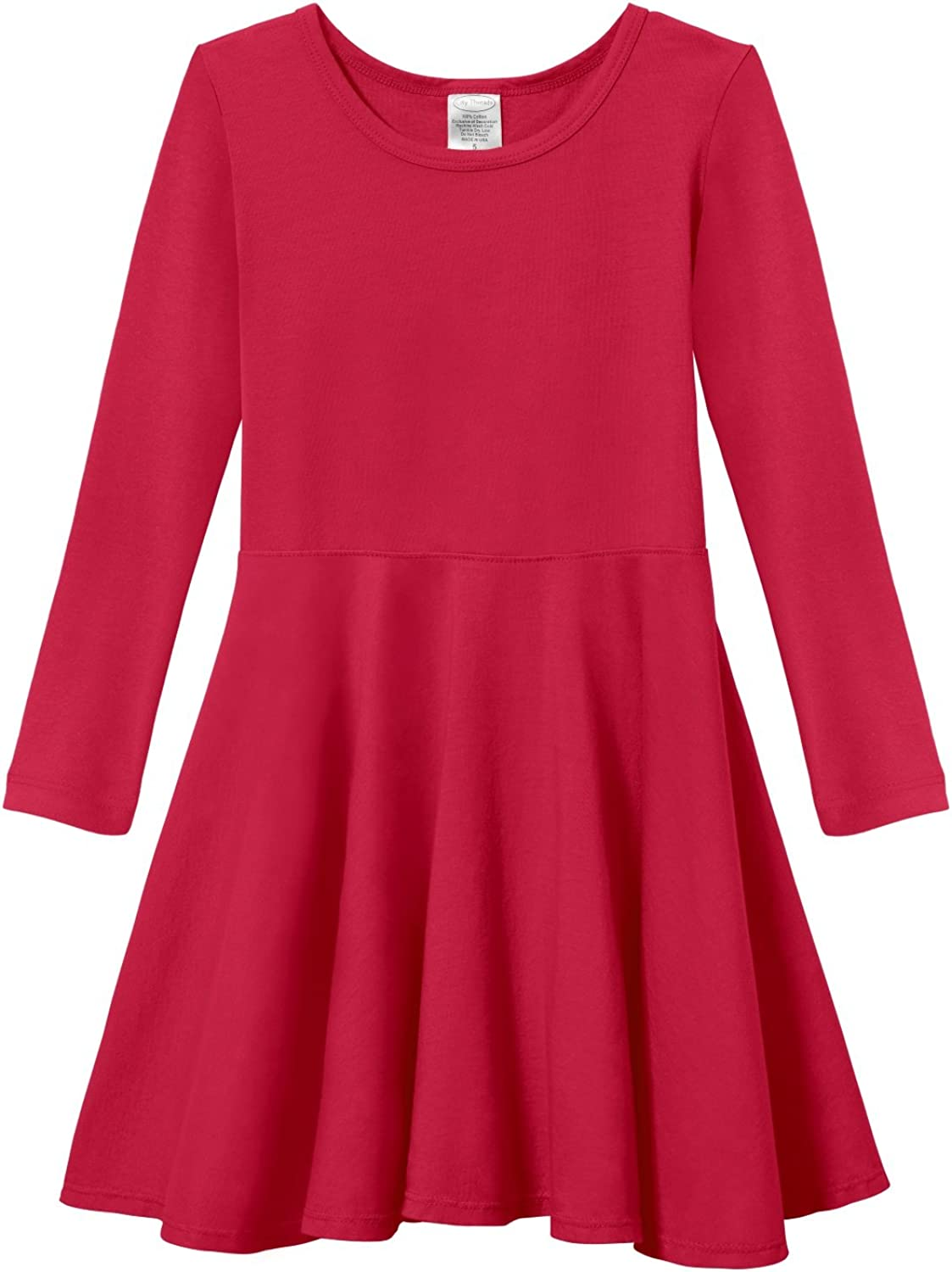 City Threads Girls Twirly Skater Party Dress - All Cotton Made in USA